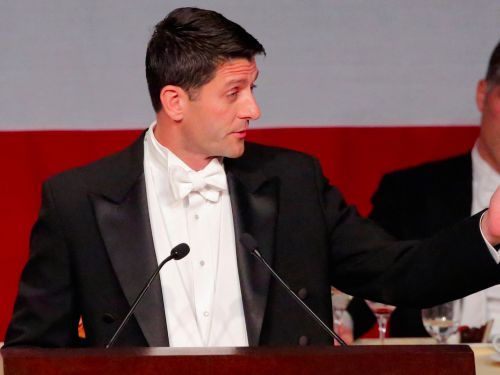 Paul Ryan burned Trump with some biting jokes at a swanky New York charity dinner