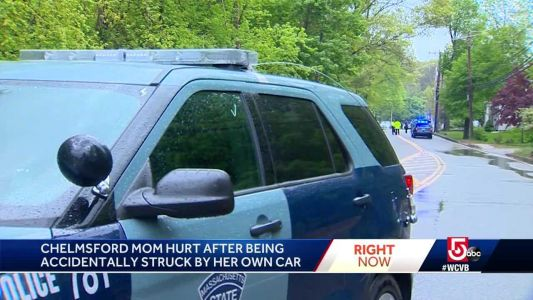 Mom hurt after being struck by own SUV