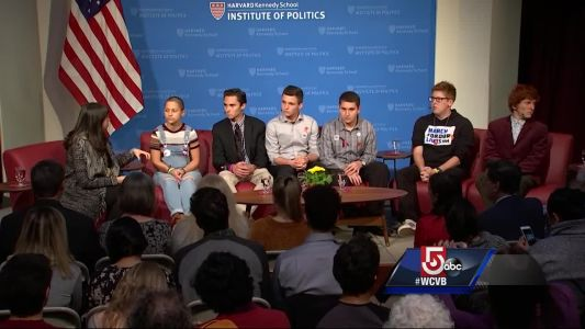Parkland shooting survivors visit Harvard ahead of march
