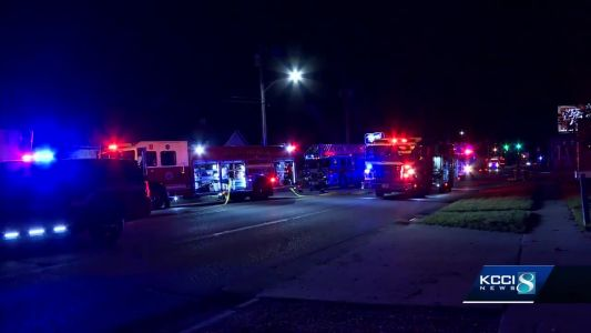 Police say truck driver rescued children from house fire