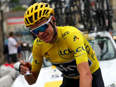 Chris Froome helped a fan propose just moments after winning the Tour de France
