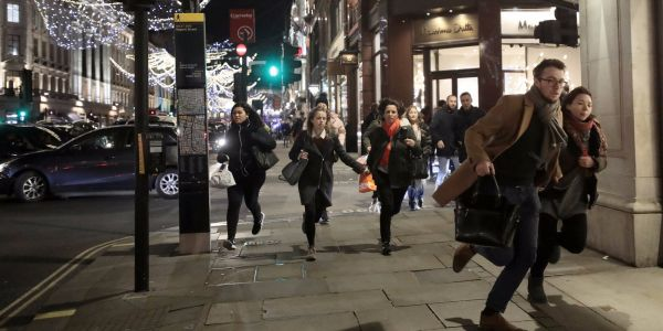 A 2-man brawl on a station platform sparked the all-out terror scare at Oxford Circus, police say