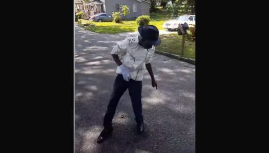 Greenville kid shows off Michael Jackson moves to officer