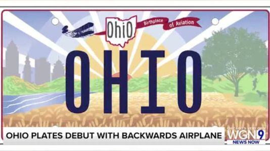 Mistake spotted on Ohio's new license plate