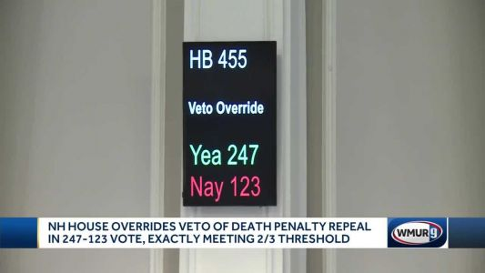 NH House narrowly passes override of death penalty repeal veto
