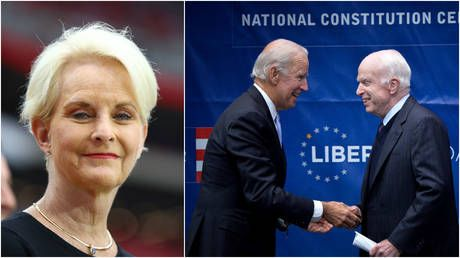 'He will lead us with dignity': NeverTrumpers & Dems rejoice after GOP Senator John McCain's widow endorses Biden