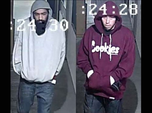Central Coast robbery spree suspects at large