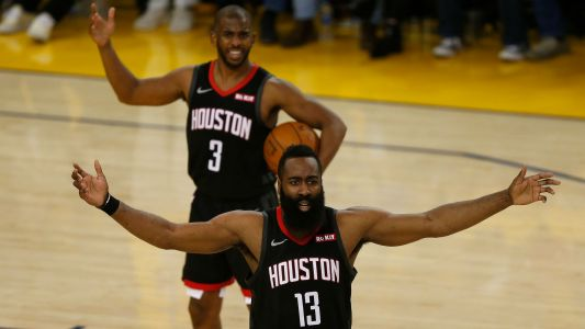Rockets' James Harden, Chris Paul had 'verbal exchange' after Game 6 loss to Warriors, report says