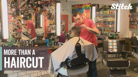 Holiday haircut event helps promote bonding between fathers and sons