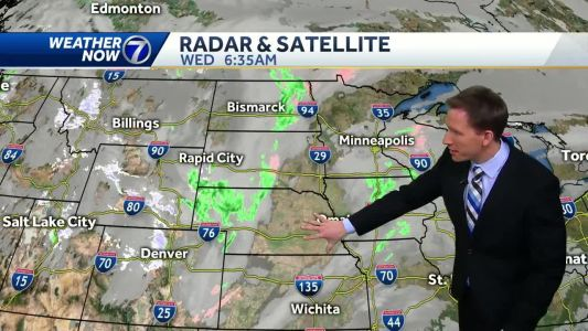 More warm temperatures Wednesday with spotty afternoon rain