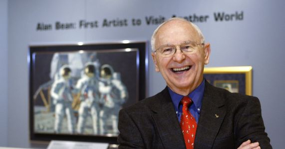 Alan Bean, astronaut, moonwalker - and artist - dies