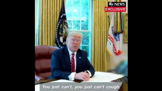 Trump kicked his chief of staff out of the Oval Office for coughing during a TV interview