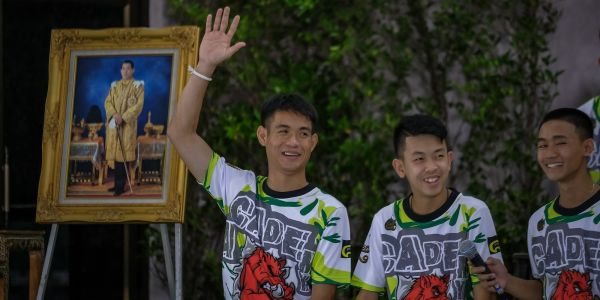 Thailand is considering giving citizenship to four stateless members of the Thai soccer team who were trapped in a cave