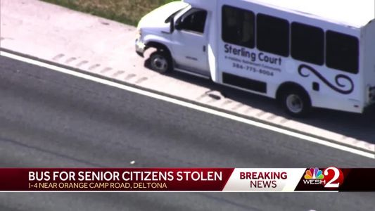 Man arrested after retirement community bus stolen, officials say