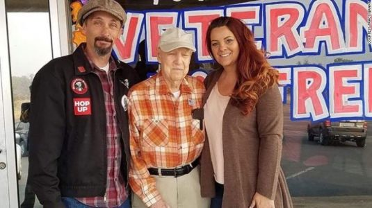 California couple 'adopted' 93-year-old veteran after his town burned in wildfire