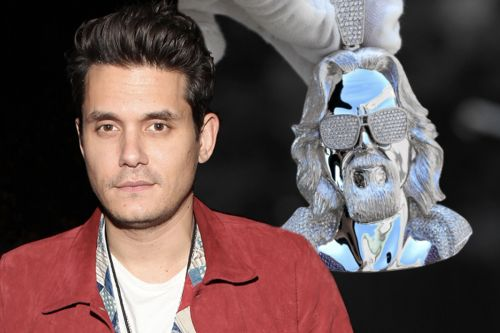 John Mayer's 'The Dude' necklace made with 4,000 diamonds