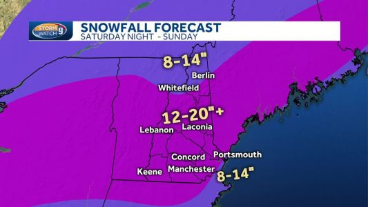 Incoming snowstorm to bring 12-20 inches of snow for most of NH