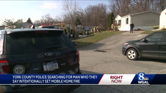Search for man accused of setting fire to York County home