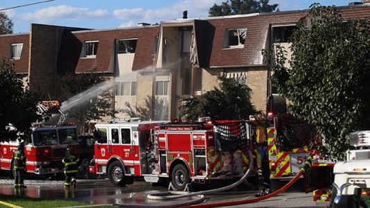 Firefighter, resident remain hospitalized after explosion, fire at Baltimore apartments