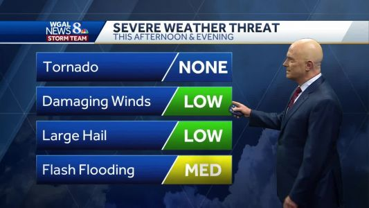 Severe weather possible this afternoon, evening