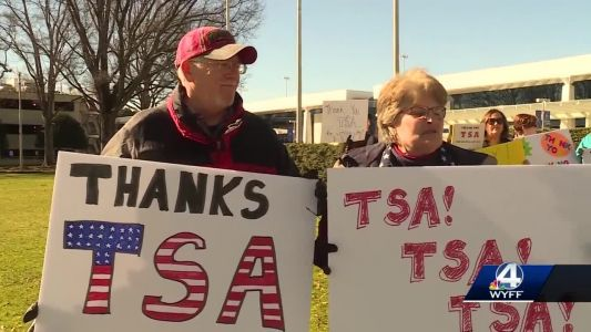 Political Groups hold rally, supporting TSA Workers at GSP
