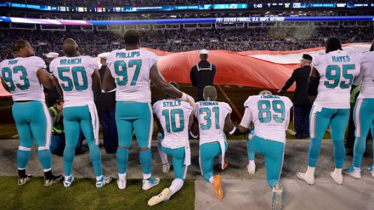 AP: Miami Dolphins Players Who Protest During Anthem Might Be Suspended