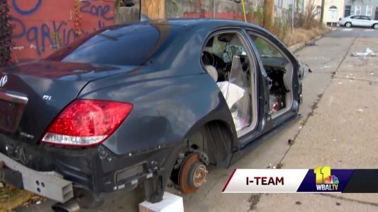 I-Team: What's being done about abandoned cars on Baltimore streets?