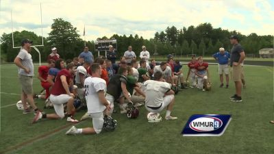 Ryan Griffin visits CHaD football practice