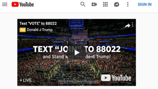 Trump Campaign Counter Programs Democratic Debate With Pricey YouTube Ad Buy