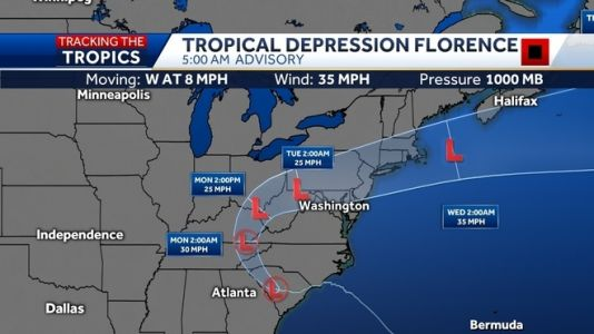 Florence weakens to tropical depression, but major flooding concerns remain