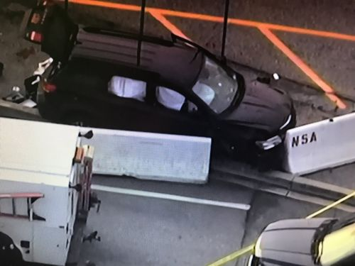 Suspect wounded, SUV stopped after shooting at NSA gate