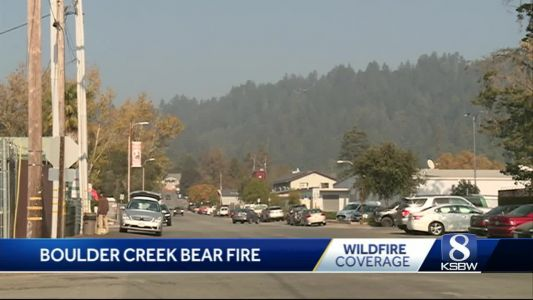 The Bear Fire in Boulder Creek is now 60% contained