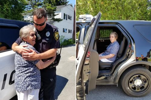 Elderly woman celebrates 93rd birthday by getting 'arrested'
