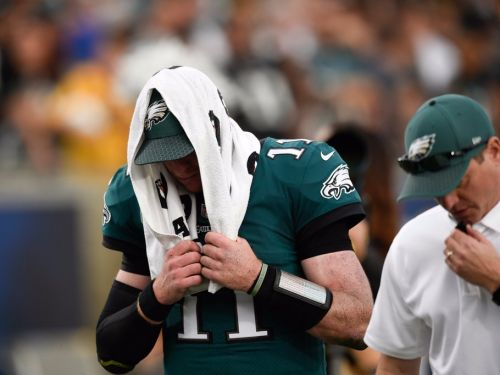 Carson Wentz left the Eagles game with a knee injury and it sounds ominous