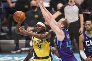 Pacers' Sabonis has triple-double to sink Hornets 116-106