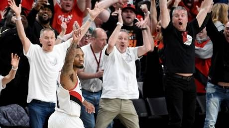 Buzzer beater! Portland's Damian Lillard sinks Oklahoma with last-gasp three-pointer in NBA Playoffs