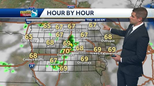 Late afternoon showers and overnight thunder ahead