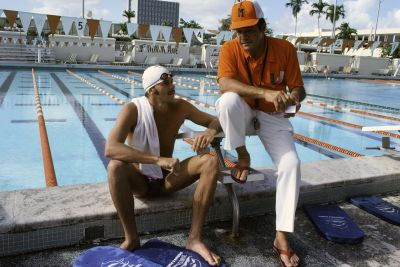 Former Olympic athlete swims too fast for local pool