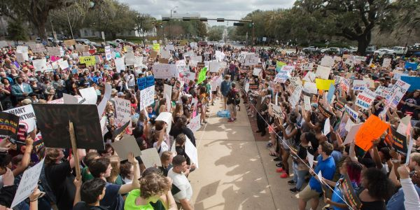 Thousands of students scold lawmakers in Florida and Washington over gun violence ahead of planned national school walkout