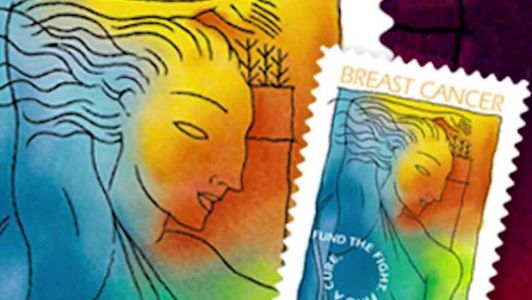 Breast cancer stamp that raises research money in jeopardy
