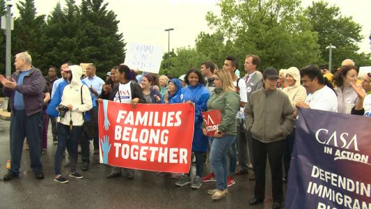 Dozens protest Ordinance Road Detention Center housing undocumented immigrants