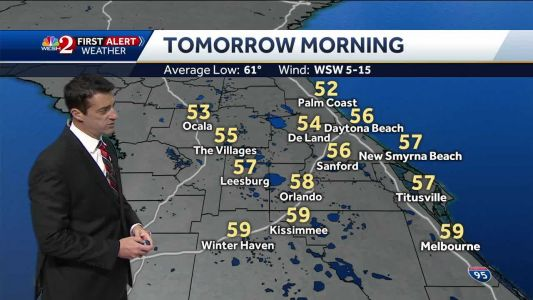 Temps in the lower 50s Saturday morning