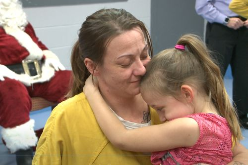 Women in treatment at Metro Corrections enjoy holiday visit with families