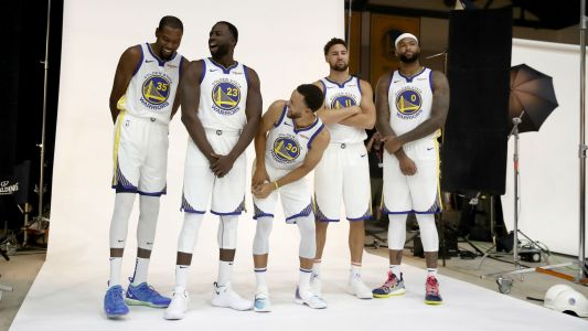 Dwyane Wade: Warriors Starting 5 'As Good as It Gets' in NBA History with Boogie