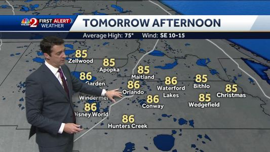 Temps in the 80s Wednesday