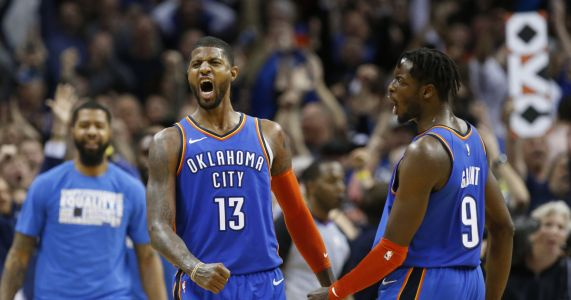 George hits winner, scores 45 as Thunder beat Jazz in 2OT