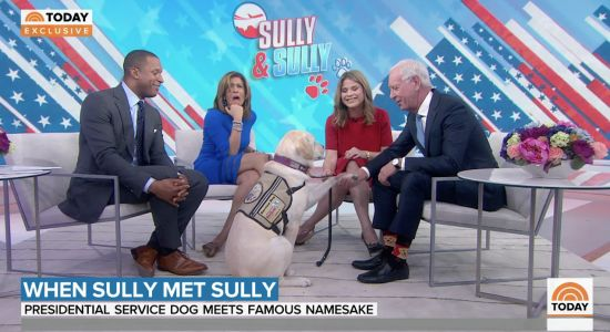 Service dog Sully fulfills George H.W. Bush's wish by meeting Capt. 'Sully' Sullenberger