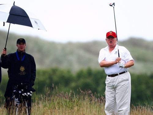 Trump is going to play golf 'quickly' with Tiger Woods