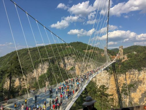 I visited the tallest and longest glass bridge in the world - which spans China's 'Grand Canyon' - and it was a colossal waste of time