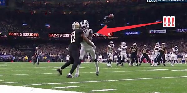 Saints lose to Rams in NFC Championship after one of the worst missed calls you'll see on a huge fourth quarter play
